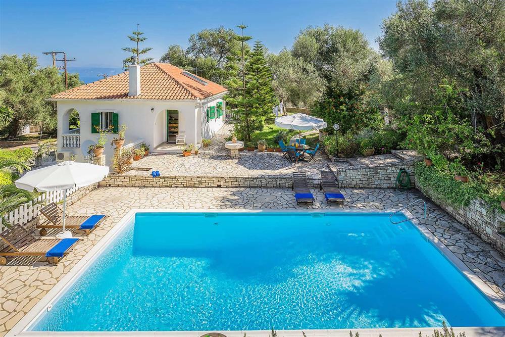 Villa exterior, pool