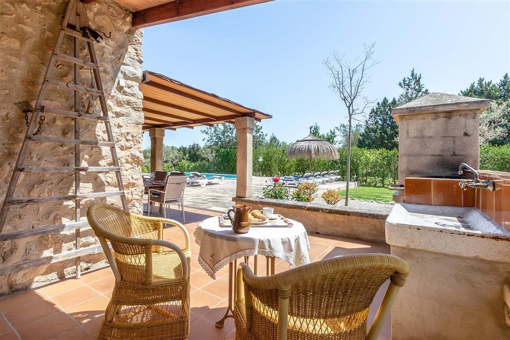 Alfresco dining, barbecue, pool at Villa Marina Alto, Pollensa, Mallorca