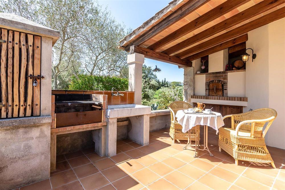 Barbecue, alfresco dining at Villa Marina Alto, Pollensa, Mallorca