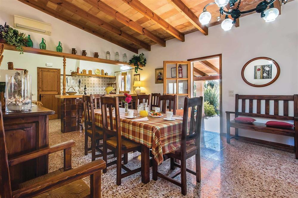 Dining room at Villa Moreno, Pollensa, Mallorca