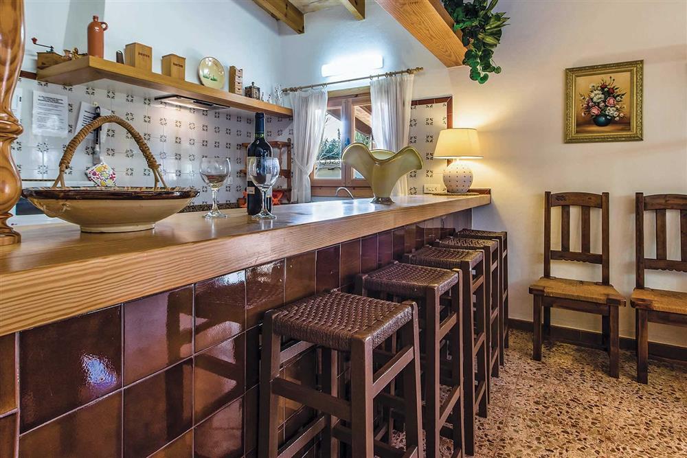 Kitchen/diner at Villa Moreno, Pollensa, Mallorca