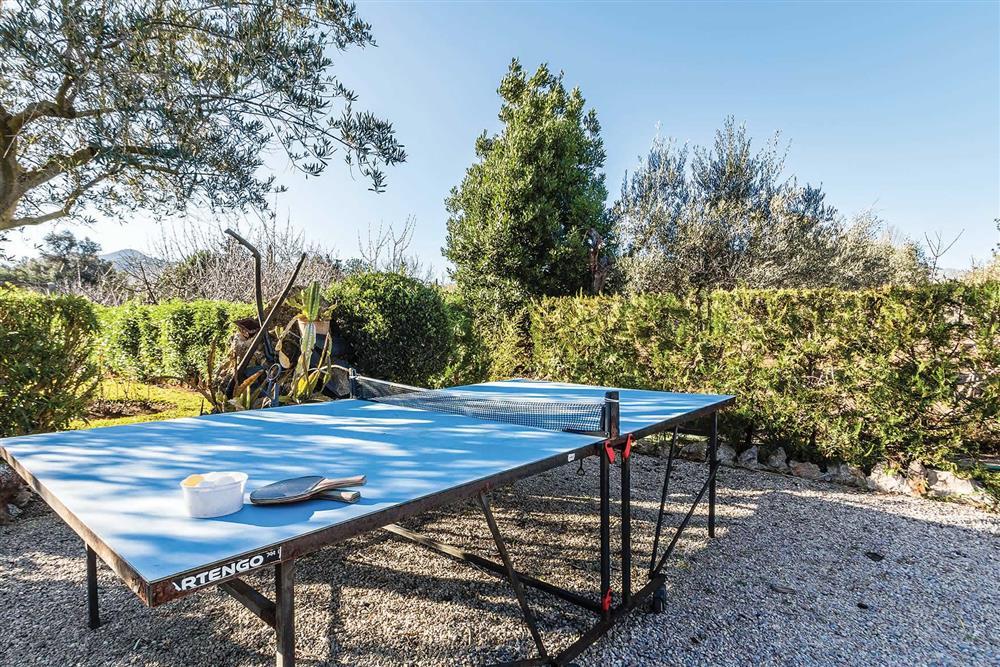 Table tennis at Villa Moreno, Pollensa, Mallorca