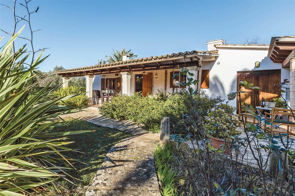 Villa exterior, garden at Villa Moreno, Pollensa, Mallorca
