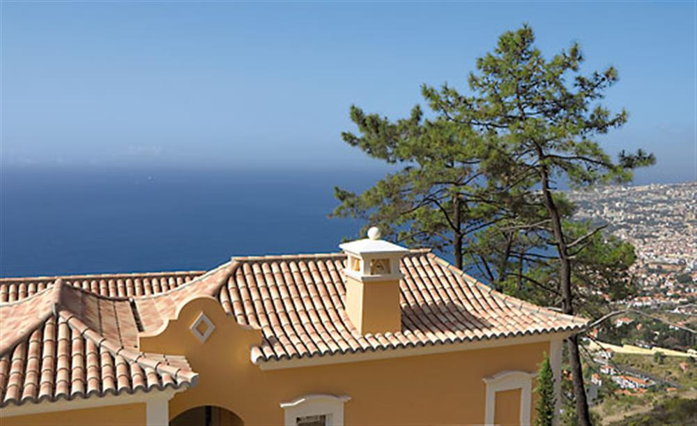 Views across to the sea at Villa Palheiro Garden Villa, Palheiro Golf Resort Madeira, Portugal