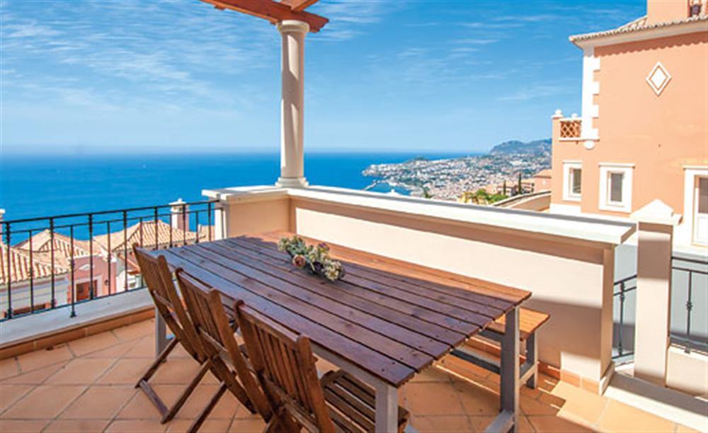 Al fresco dining at Villa Palheiro Sea Villa, Palheiro Golf Resort Madeira, Portugal