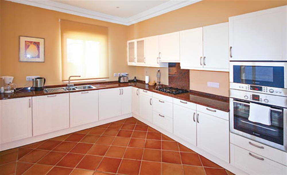 The kitchen at Villa Palheiro Sea Villa, Palheiro Golf Resort Madeira, Portugal