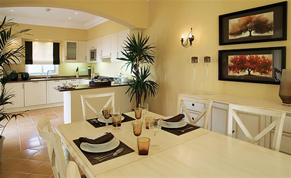 Dining room and kitchen at Villa Palheiro Villa, Palheiro Golf Resort Madeira, Portugal
