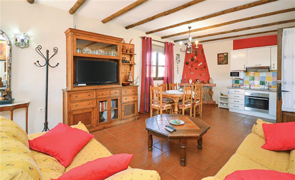Living room at Villa Paloma, Frigiliana, Andalucia
