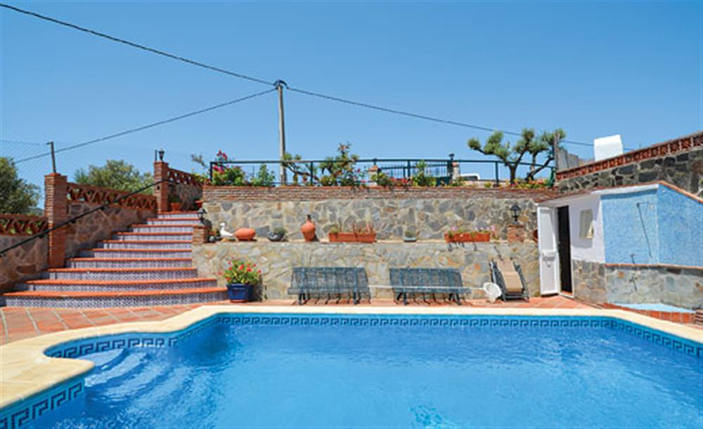 Swimming pool at Villa Paloma, Frigiliana, Andalucia