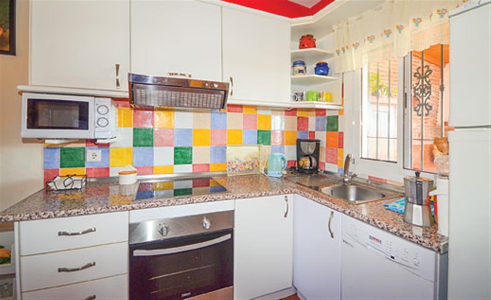 The kitchen at Villa Paloma, Frigiliana, Andalucia