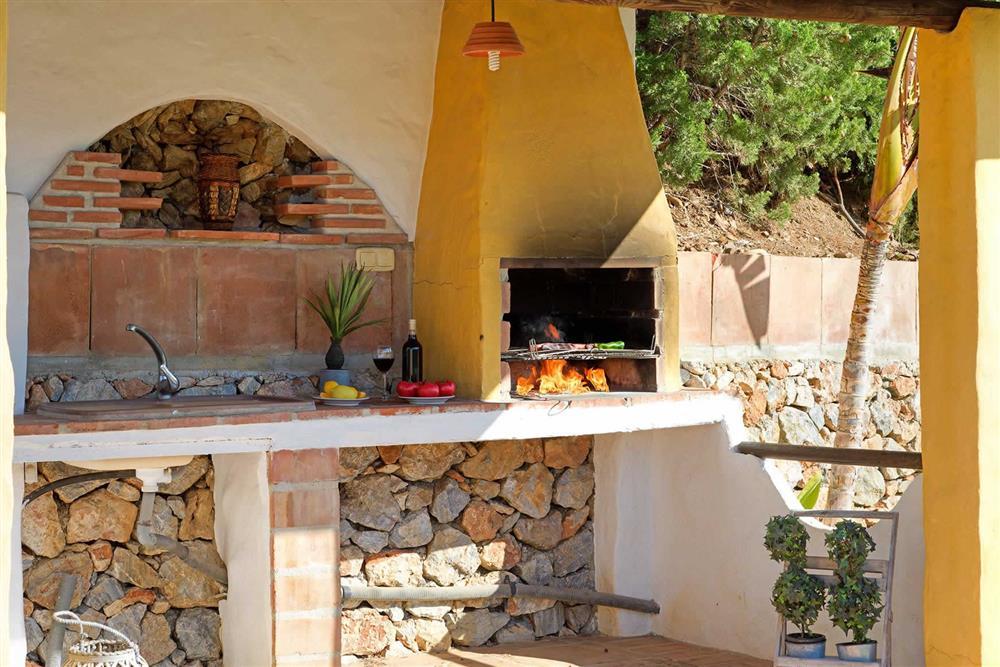 Barbecue at Villa Paraiso, Frigiliana, Andalucia