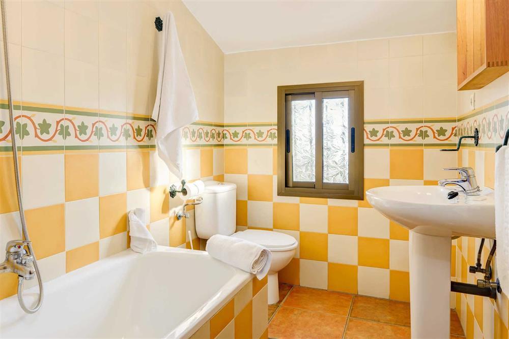Bathroom at Villa Paraiso, Frigiliana, Andalucia
