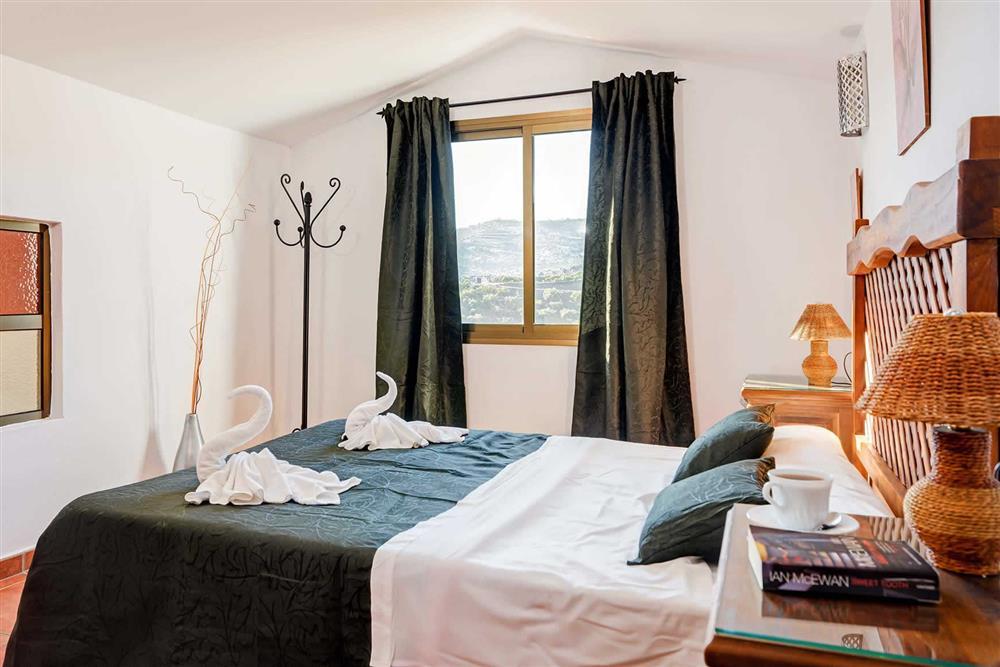 Double bedroom at Villa Paraiso, Frigiliana, Andalucia