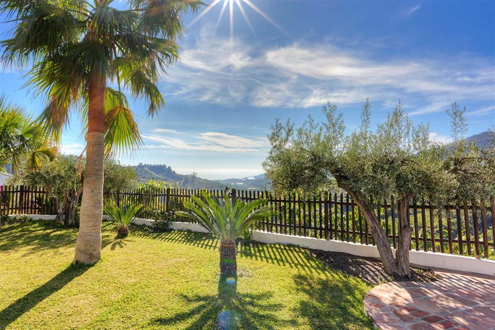 View, garden at Villa Paraiso, Frigiliana, Andalucia