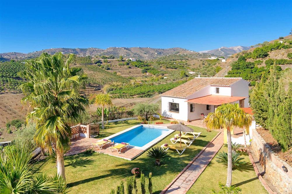 View, villa with pool, villa exterior at Villa Paraiso, Frigiliana, Andalucia