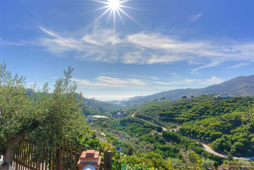 View at Villa Paraiso, Frigiliana, Andalucia