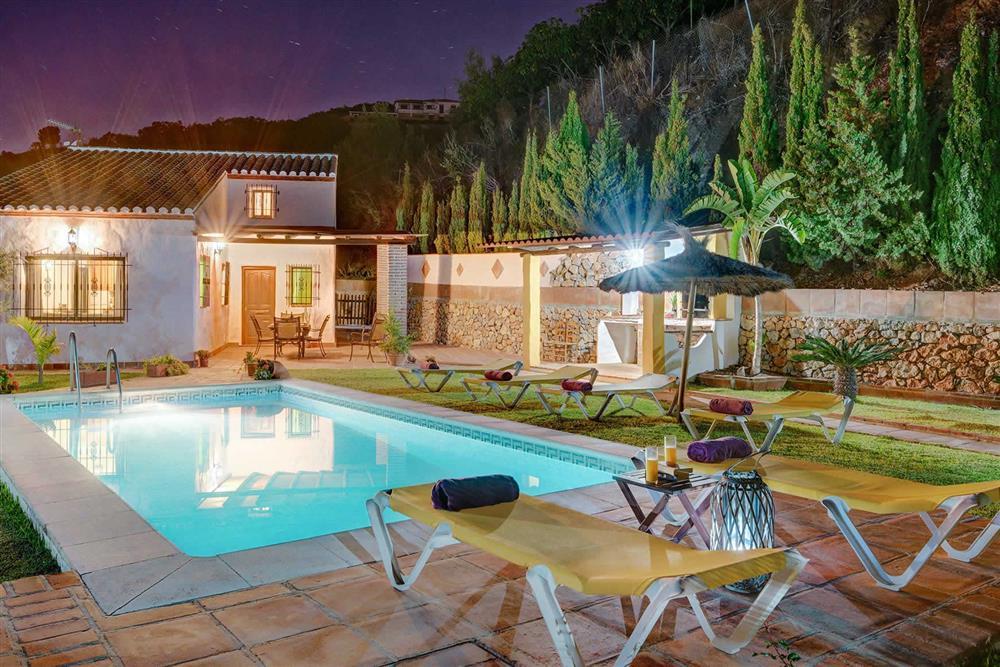 Villa with pool, night shot (photo 2) at Villa Paraiso, Frigiliana, Andalucia