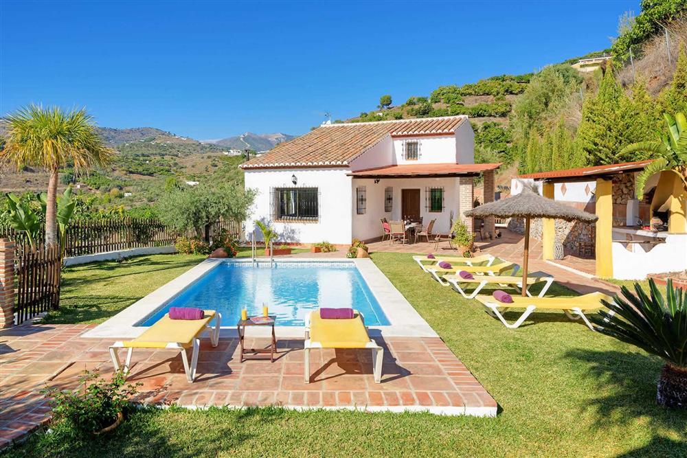 Villa with pool, sunloungers, view at Villa Paraiso, Frigiliana, Andalucia