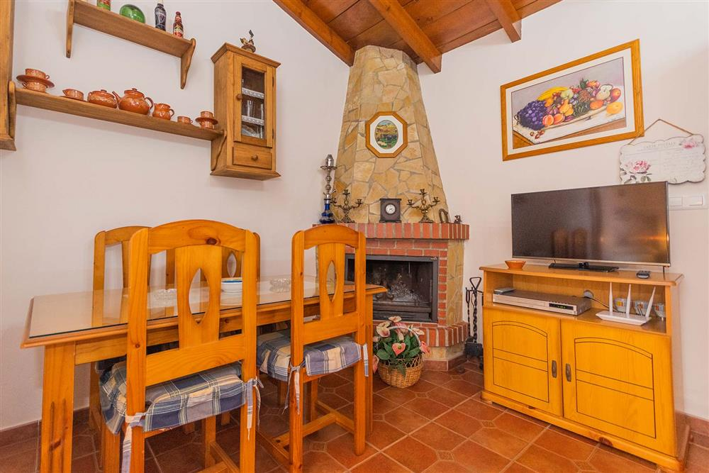Dining room, lounge, open plan at Villa Porroncico, Nerja, Andalucia