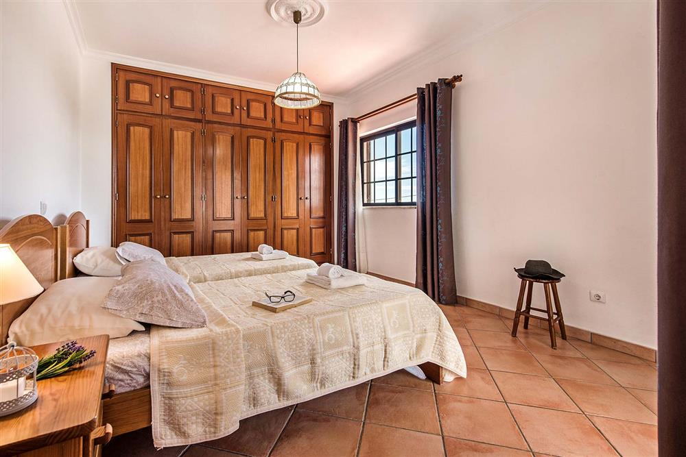 One of the bedrooms at Villa Ramos, Olhos dAgua, Algarve