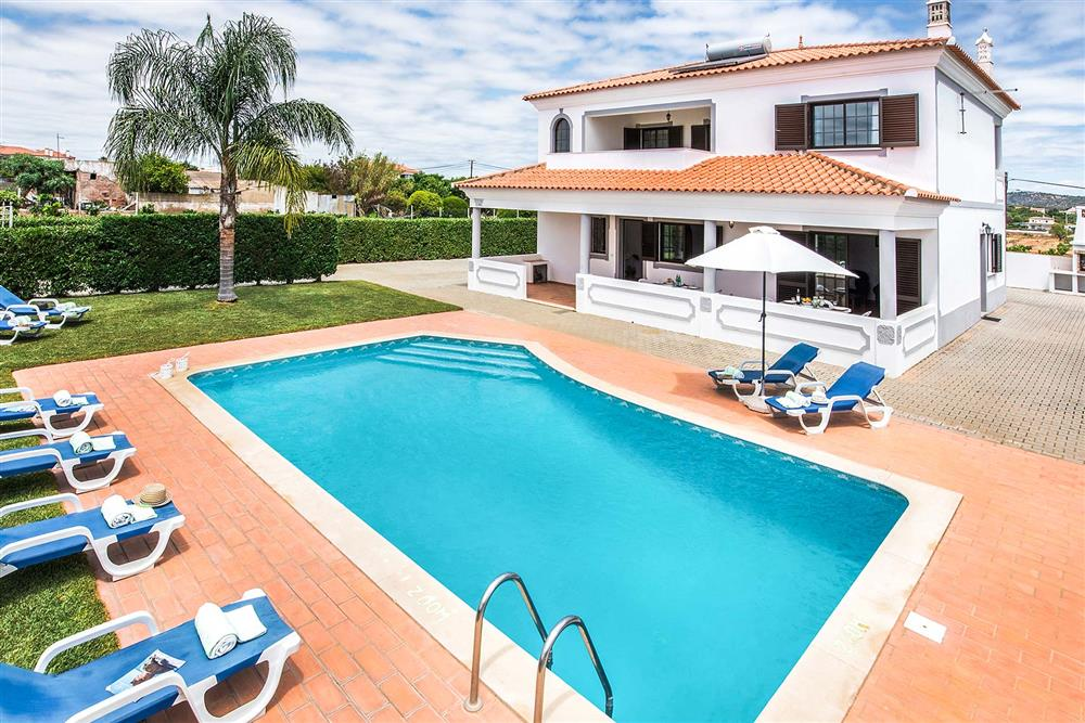 Swimming pool at Villa Ramos, Olhos dAgua, Algarve