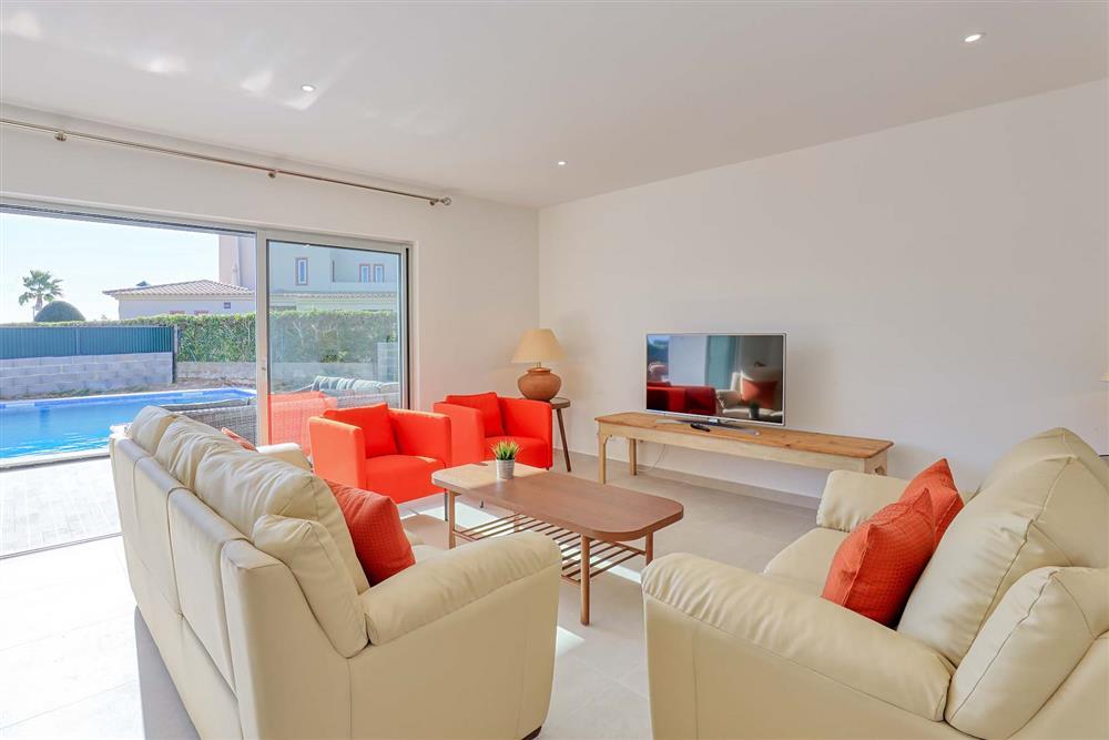 Lounge, pool at Villa Raquel, Vale de Parra, Algarve