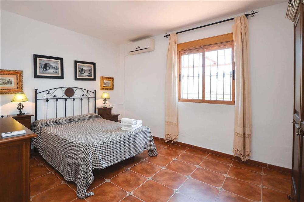Double bedroom at Villa Robus, Frigiliana, Andalucia