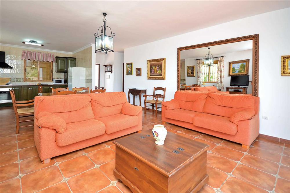 Open plan, lounge, dining room at Villa Robus, Frigiliana, Andalucia