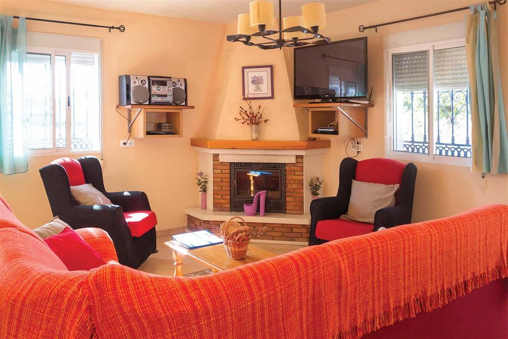 Living room at Villa Sanchez Y Rico, Nerja Andalucia, Spain