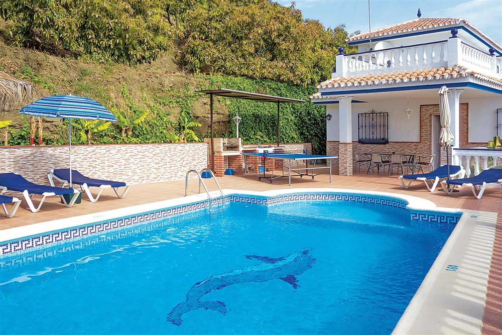 Swimming pool at Villa Sanchez Y Rico, Nerja Andalucia, Spain