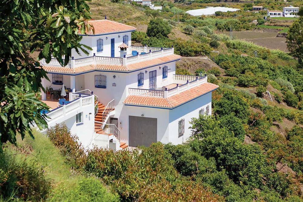 The setting of Villa Sanchez Y Rico at Villa Sanchez Y Rico, Nerja Andalucia, Spain