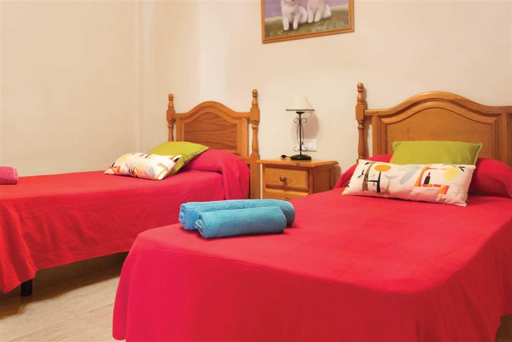 Twin bedroom at Villa Sanchez Y Rico, Nerja Andalucia, Spain
