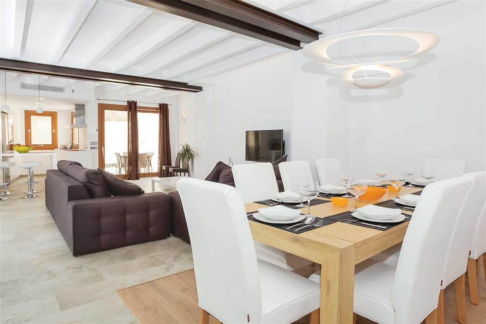 Dining room, lounge, open plan at Villa Sant Sebastia, Pollensa, Mallorca