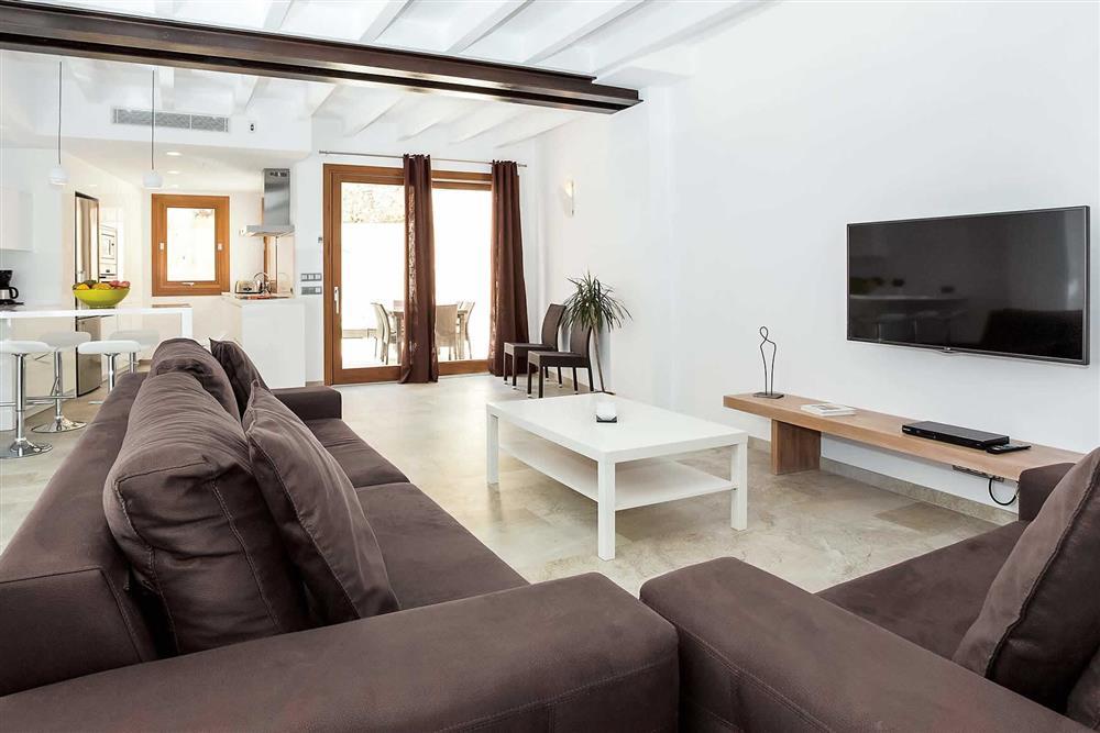 Lounge, open plan at Villa Sant Sebastia, Pollensa, Mallorca