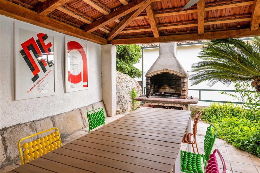 Alfresco dining, barbecue at Villa Seaside Fortress View, Dubrovnik, Dubrovnik Region