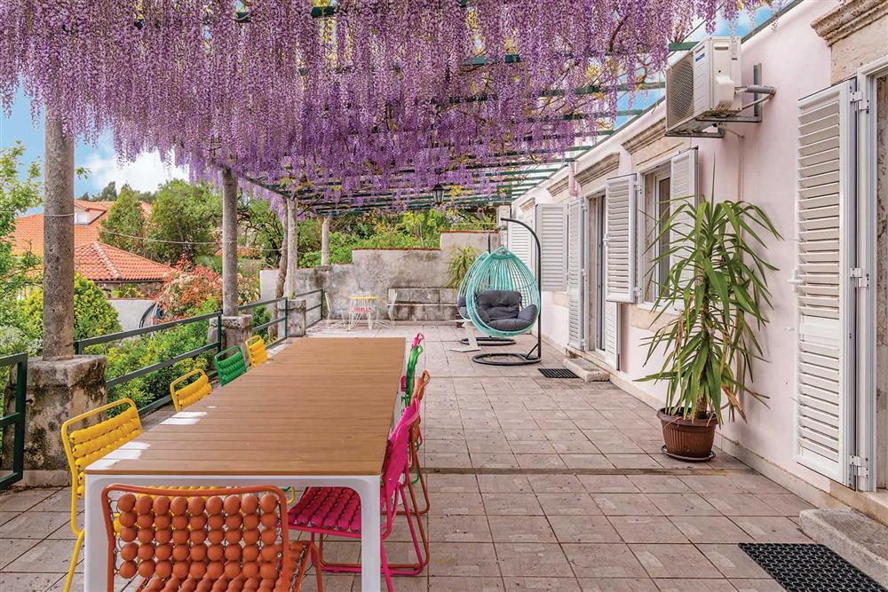 Alfresco dining at Villa Seaside Fortress View, Dubrovnik, Dubrovnik Region