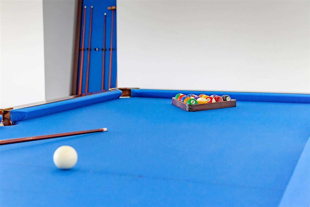 Pool table at Villa Serafina, Funchal, Madeira