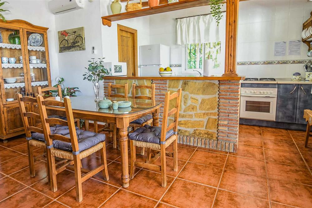 Dining room at Villa Serymar, Nerja, Andalucia