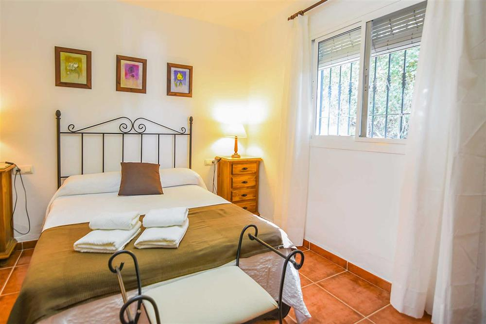 Double bedroom at Villa Serymar, Nerja, Andalucia