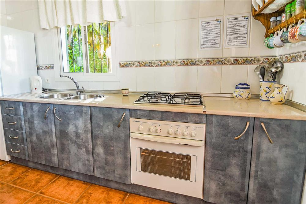Kitchen at Villa Serymar, Nerja, Andalucia