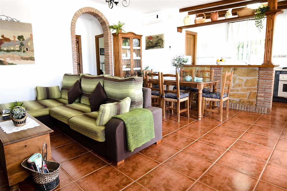 Lounge, dining room at Villa Serymar, Nerja, Andalucia