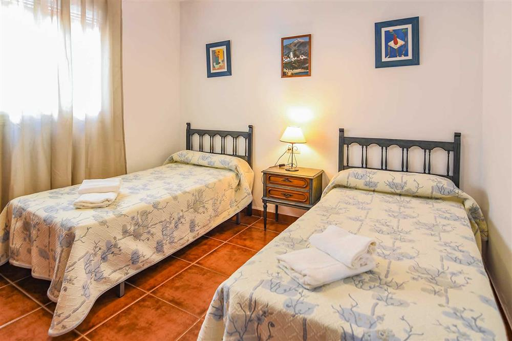 Twin bedroom at Villa Serymar, Nerja, Andalucia