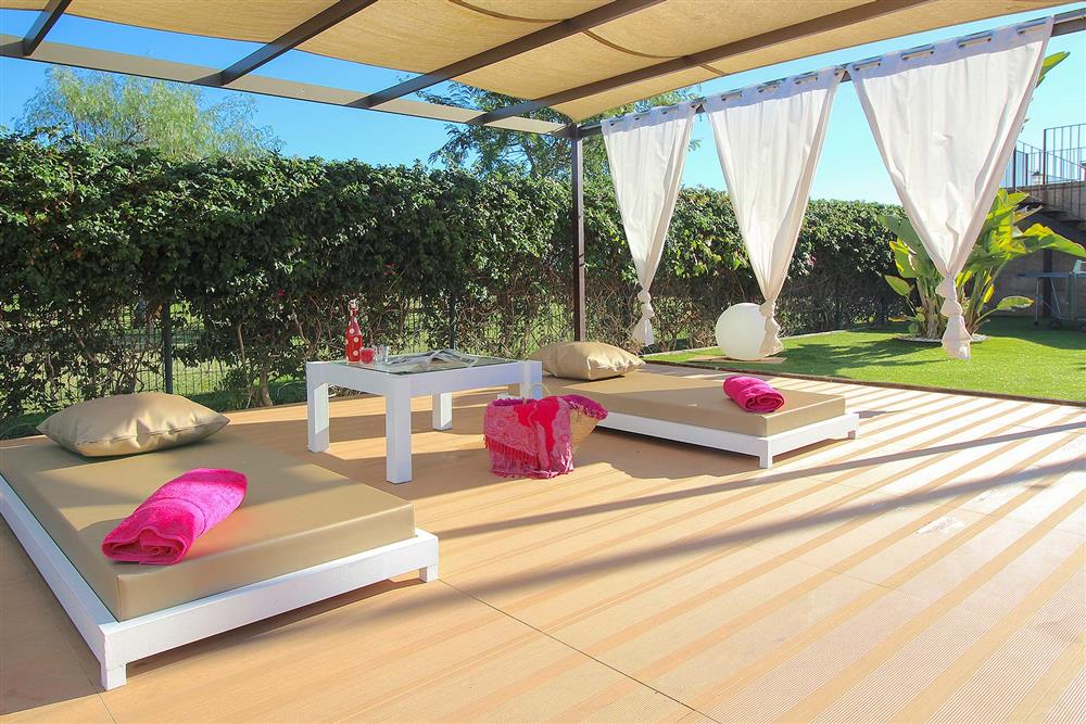 Relax on one of these sun beds at Villa Son Vent, Sa Pobla, Mallorca