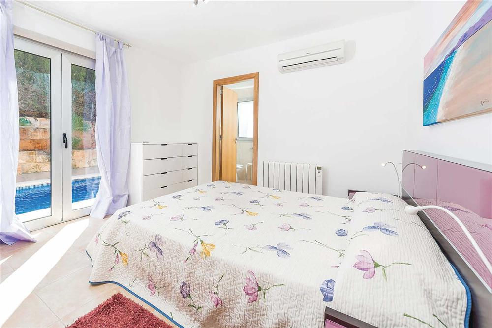 Double bedroom at Villa Synera, Alcudia, Mallorca