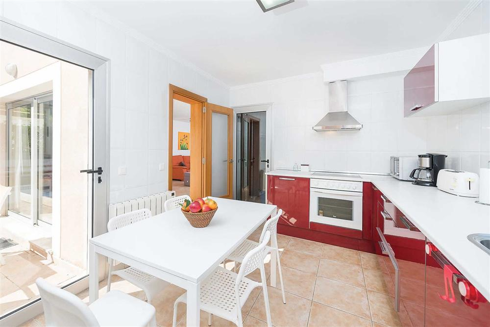 Kitchen/diner at Villa Synera, Alcudia, Mallorca
