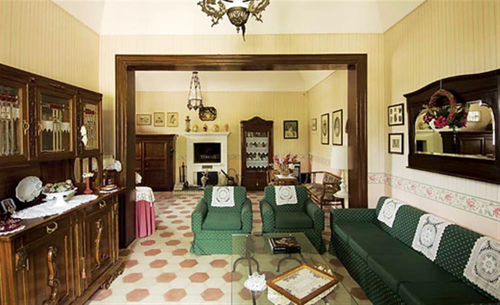 Living room at Villa Trombadore, Modica Sicily, Italy