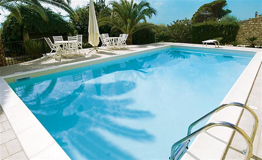 Swimming pool at Villa Trombadore, Modica Sicily, Italy