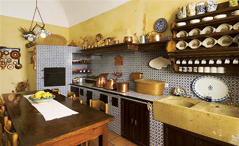 The kitchen at Villa Trombadore, Modica Sicily, Italy