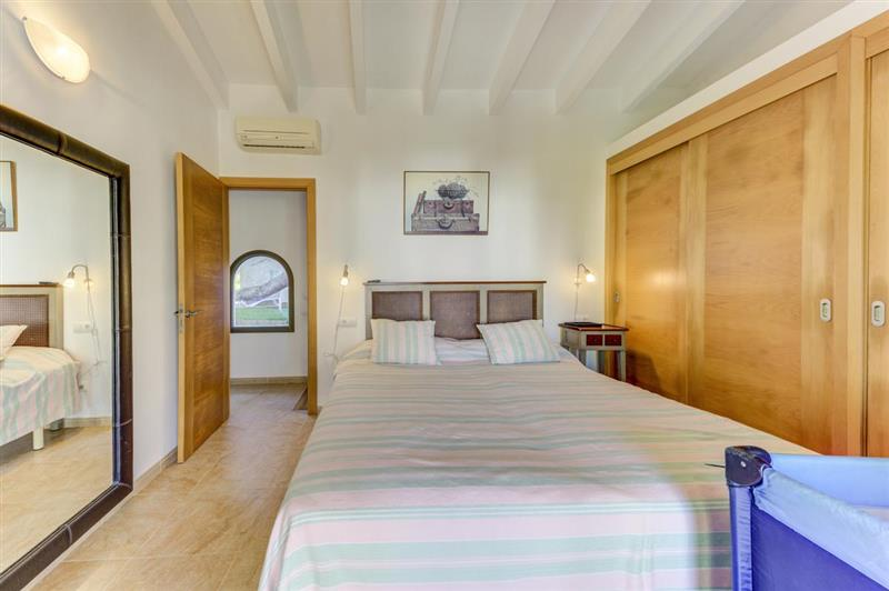 Double bedroom at Villa Tulipan, Alcudia, Spain