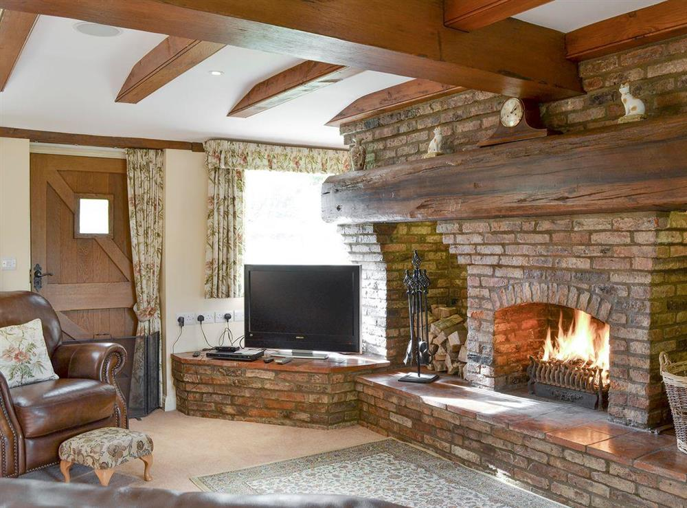 Welcoming living room at Walled Garden Lodge in Camerton, near Hull, North Humberside